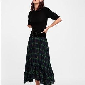 Zara Tartan Plaid Skirt